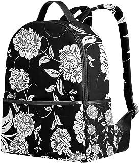 ユサキ(USAKI) リュック リュックサック 通学 花柄 和柄 和風 葉柄 復古風