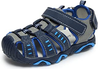UBELLA Boy's Girl's Summer Outdoor Sport Athletic Breathable Closed-Toe Strap Sandals (Toddler/Little Kid)