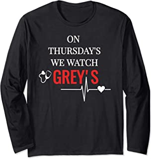On Thursday's We Watch Grey's Tee T Shirt Long Sleeve