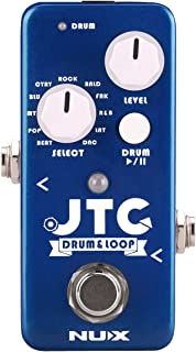 NUX JTC Mini Guitar Looper Auto Detection Drum Machine 24 bit Audio 6 Minutes Recording Time Playing in Tempo,the Drum will follow the loop speed automatically