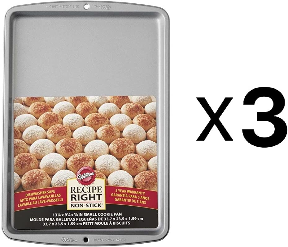 Wilton Bulk Buy Recipe Right Small Cookie Pan 13 25 Inch X 9 25 3 Pack