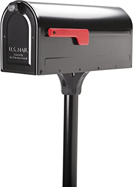 Architectural Mailboxes 7680B-10 MB1 Mount Mailbox and In-Ground Post Kit, Medium, Bl