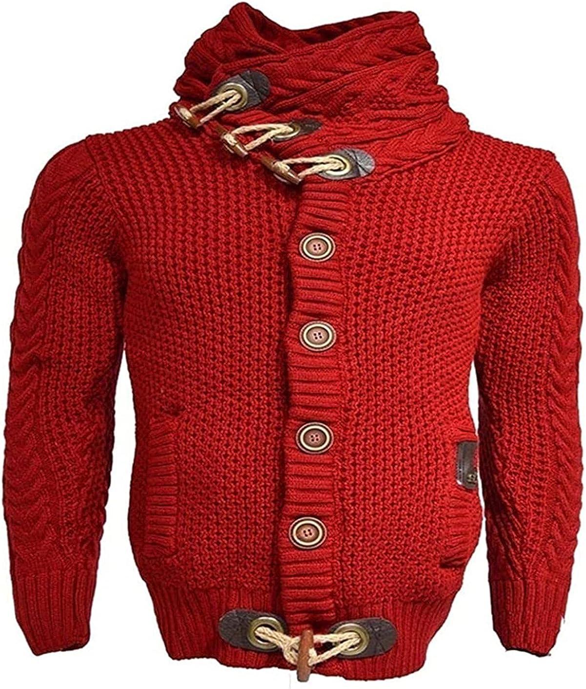 Man Autumn Winter Sweaters Streetwear Turtleneck Sweater Men Knitted Pullovers