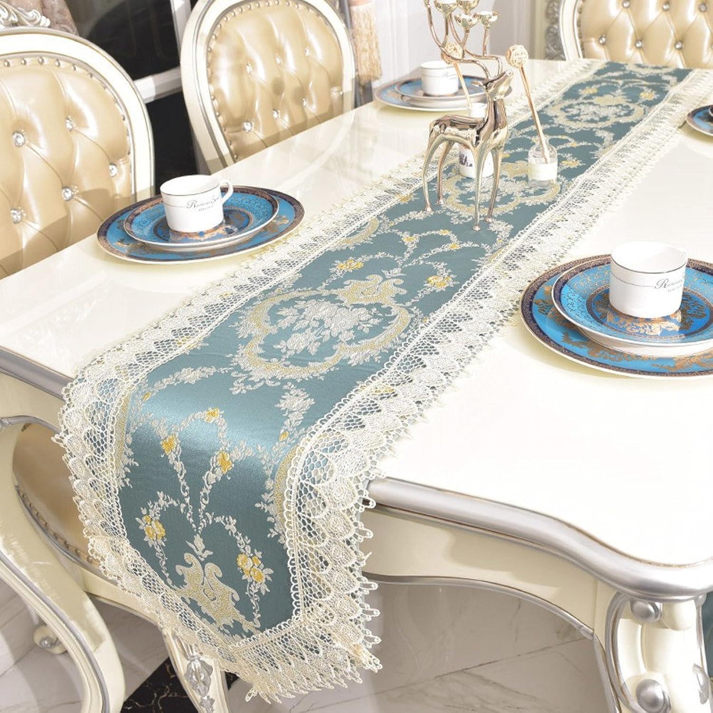 TINDLSHHDPPM Tischläufer europäisch Luxus Flag Stoff Bett tischläufer tischtuch tischläufer tischtuch rechteckiger Tisch mat Schrank schal-B 32x240cm(13x94inch) B075YVN64P Spielen Sie das Beste   | eine breite Palette von Produkten