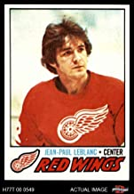 1977 Topps # 133 J.P. LeBlanc Red Wings (Hockey Card) Dean's Cards 7 - NM Red Wings