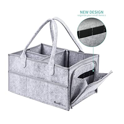 Baby Diaper Caddy Organizer with Multiple Pocke...