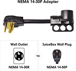 JuiceBox Electric Vehicle Charging 30A (4 Prong) Adapter 240V NEMA 14-30P to 240V NEMA 14-50R