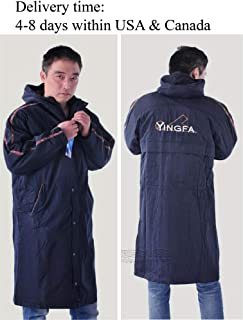 YingFa Unisex Swimming Parka Sport Parka Adult Swim Parka Fleece-Lined Swim Parka Black Parka Size L