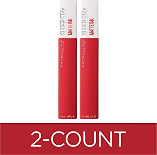 Maybelline SuperStay Matte Ink Liquid Lipstick, Pioneer, 2 Count