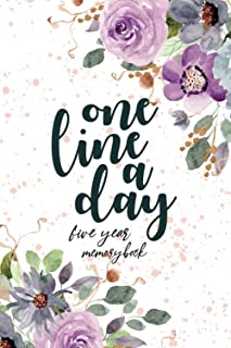 one line a day five year memory book: 2021-2025 Five Year Journal Record funny, loving, sad, happy, or poignant moments in...