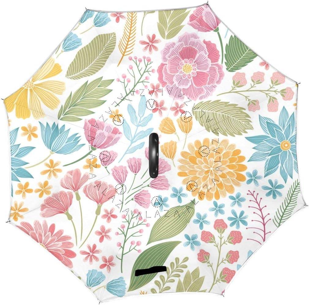 rodde Umbrella Vintage Floral Flowers Rev Max 58% OFF Pastoral Summer Spring Los Angeles Mall