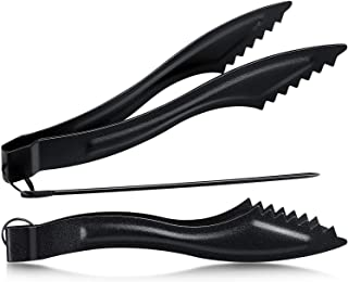 2 Packs Hookah Tongs Sets Stainless Steel Hookah Charcoal Tongs Metal Narguile Shisha Coals Tongs with Long Pokers Hookah ...