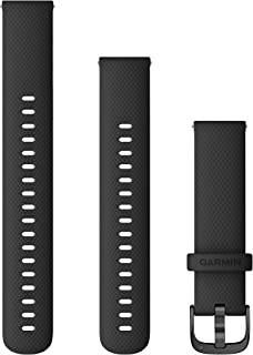 Garmin Quick Release Accessory Band 18 mm- Black with Slate Hardware (010-12932-01)