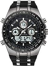 SPOTALEN Men`s Sport Watch Waterproof Military Wrist Watches Multi-Functional Analog Digital Backlight Watches in Black Si...