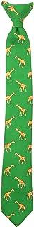Wembley Big Boy's Boys Novelty Fun Print Clip Tie green, One Size
