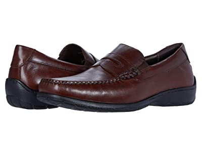 Johnston & Murphy Crawford Penny (Mahogany Full Grain) Men