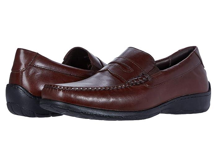 Johnston and Murphy  Crawford Penny (Mahogany Full Grain) Mens Shoes