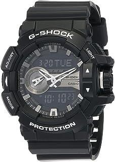 Casio G-Shock Men's Black Ana-Digi Dial Resin Band Watch - GA-400GB-1ADR
