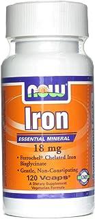 Iron (Bisglycinate) 18 mg - Now Foods - 120 - VegCap