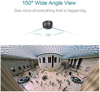 AREBI Spy Camera Wireless Hidden WiFi Mini Camera HD 1080P Portable Home Security Cameras Covert Nanny Cam Small Indo...