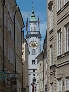 Gifts Delight Laminated 24x32 inches Poster: Town Hall Town Hall Tower Salzburg Clock Tower Alley Old Building Sigmund Haffner Gasse Downtown Old Town