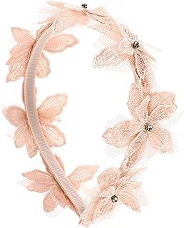 Amosfun Tiara de cabelo infantil com renda e flores e acessórios decorativos para cabelo para meninas Baby Headdress rosa
