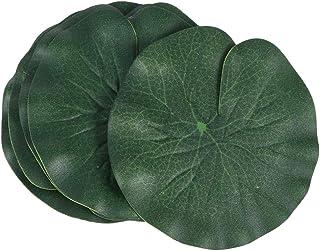 KESYOO 蓮の葉 造花 人工蓮葉 スイレンパッド装飾品 人工観葉植物 水槽池の装飾人工葉 魚の池 プール 水族館 6点セット(10cm、グリーン)