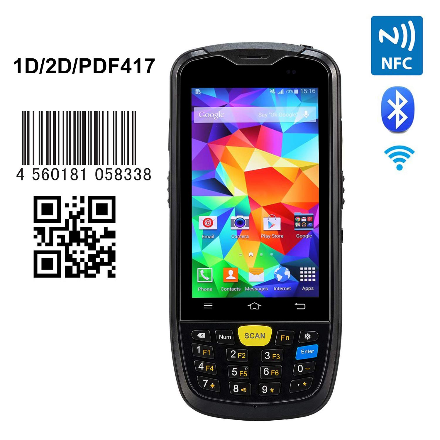 NFC Function]Handheld Barcode Scanner Rugged Mobile Computer
