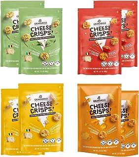 Granarolo Premium Oven Baked 100% Italian Cheese Crisps Gluten Sugar And Lactose Free Keto Low Carb High Protein Non GMO S...