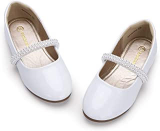 Toddler Girls Samantha Dress Shoe Wedding Party School Uniform Ballet Mary Jane Slip On Flats Shoes