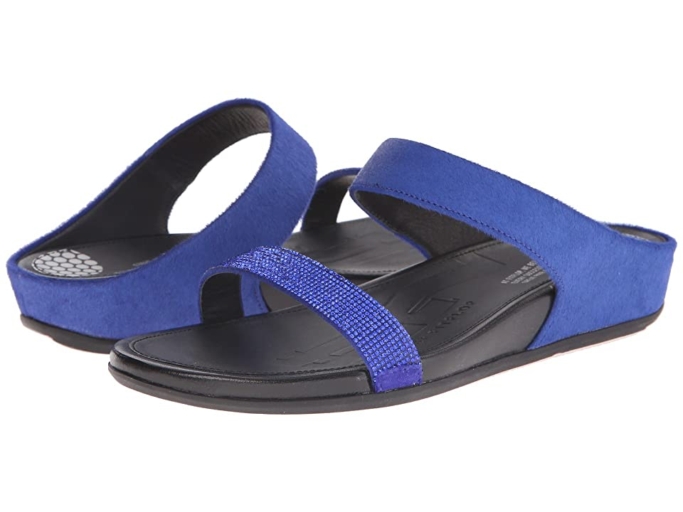 e6648ee696ca3f FitFlop Banda Micro-Crystal Slidetm (Mazarine Blue) Women s Slide Shoes