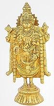 Shalinindia Brass Statue Standing Balajee Venkateswara Religious Items for Puja 7 Inch