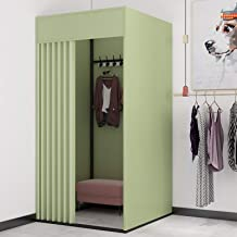 YXYECEIPENO Mobile Fitting Room Simple Locker Room Track Activity Changing Room Floor Display Rack Bold Environmental Prot...