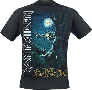 Fear of The Dark Hombre Camiseta Negro, [Effekte/Besonderheiten] + Regular