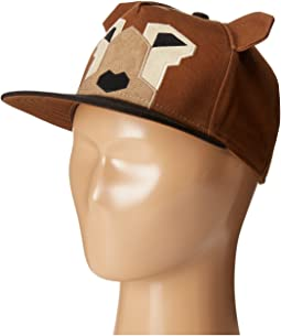 Flat Bill Adjustable Cap Hat with Geometric Shaped Animal and Ears (Little Kids/Big Kids)
