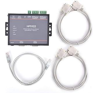 Serial Server,HF-5122 Dual Serial Port to Ethernet RS232 / RS485 / RS422 Serial Server 5-36VDC