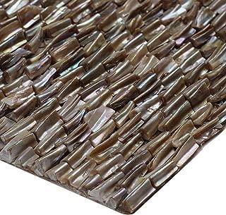 ZHANWEI 3D Wall Panels Irregular Shell Mosaic Bathroom Kitchen Net Bottom Wallpaper (Color : 5 PCS, Size : 300x300mm)