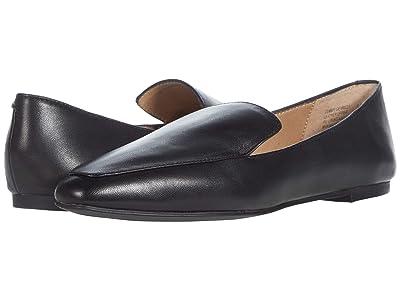 Steve Madden Gemmy Flat (Black Leather) Women