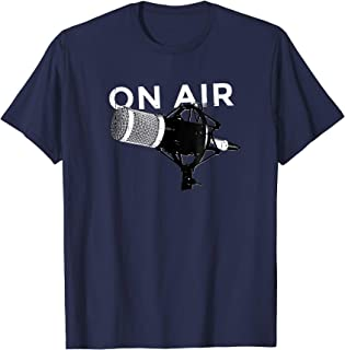 ON AIR T-Shirt Retro Microphone Radio Podcast Vintage Vibe