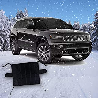 VaygWay Car Snow Ice Cover- Windshield Frost Ice Snow Protector- Exterior All Weather Frost Guard-Waterproof Clean Cover No Scraping- Reversible