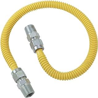 Brasscraft CSSD44-72 Gas Dryer and Water Heater Flex-Lines, YELLOW