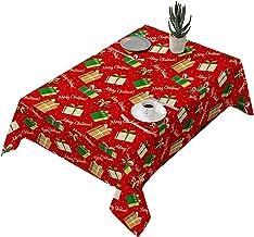 Germplasm Nappe de Noël et housse de chaise Père Noël Décoration de table de dîner Housse de chaise 1 pièce Absorbante Gra...