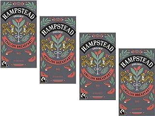 Hampstead Organic Black Tea Englisches Frühstück - 4 x 20 Teebeutel 180 Gramm