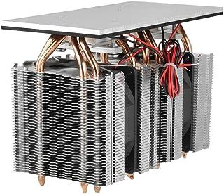 Sistema de refrigeración de semiconductores de refrigeración Refrigerador Refrigerador Kit de ventilador Mini aire acondicionado 12V 240W 2 * 12710