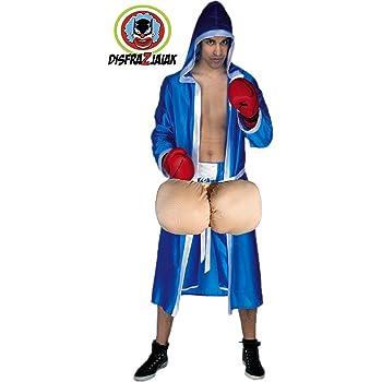Disfraz de Boxeador Huevon Azul: Amazon.es: Ropa y accesorios