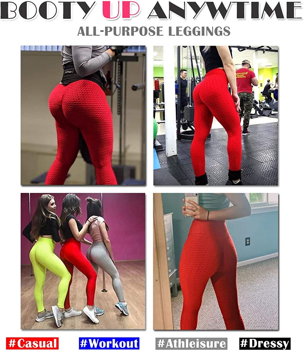 MISS MOLY Ruched Butt Lifting Leggings High Waist Scrunch Yoga Pants Tummy Control Workout Textured Booty Tights for Women
