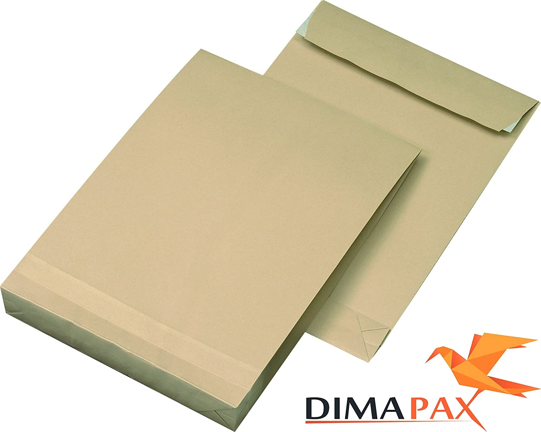 Faltentaschen B4 Haftklebend 120gr. HK braun 1000 Stück dimapax B0733C68MD    | Genialität