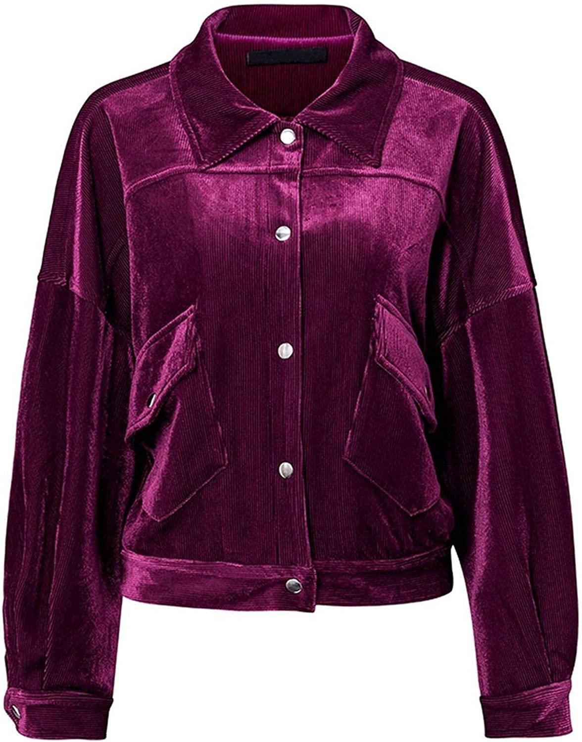 Contentment Corduroy Single Breasted Autumn Jacket Women Casual Pocket Coats Femme
