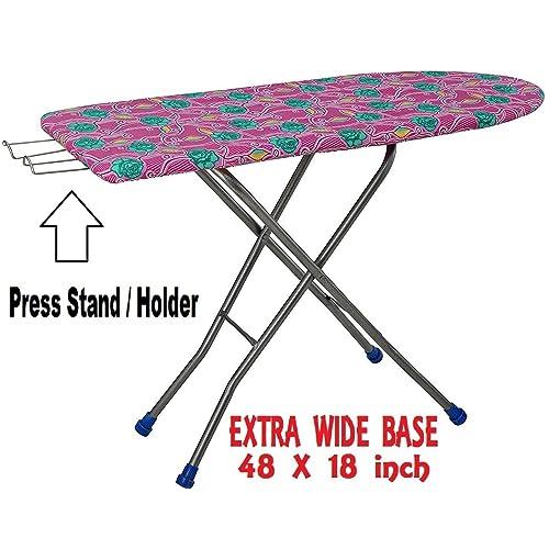 07682a32311 Kisha Heavy Folding Large Ironing Board Stand with Iron Holder (Standard