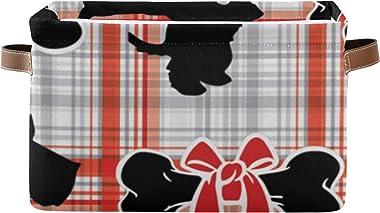 WIEDLKL Canasta organizadora de Almacenamiento Rectangular Perros pequeños Lindos Canasta de Almacenamiento para Perros Scott